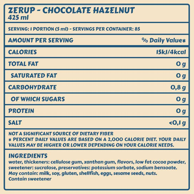 Zerup Chocolate Hazelnut