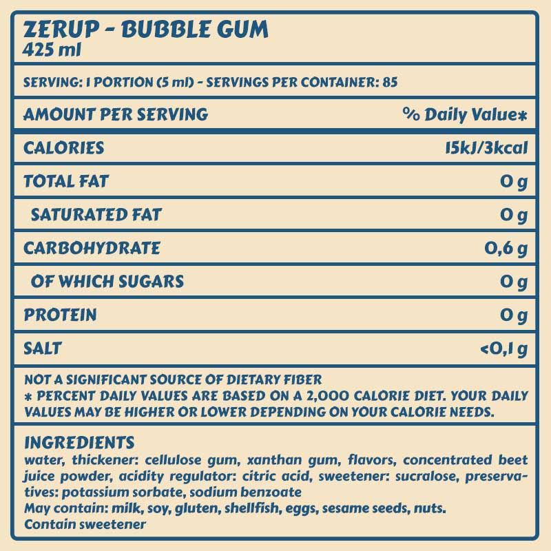 Zerup bubble gum