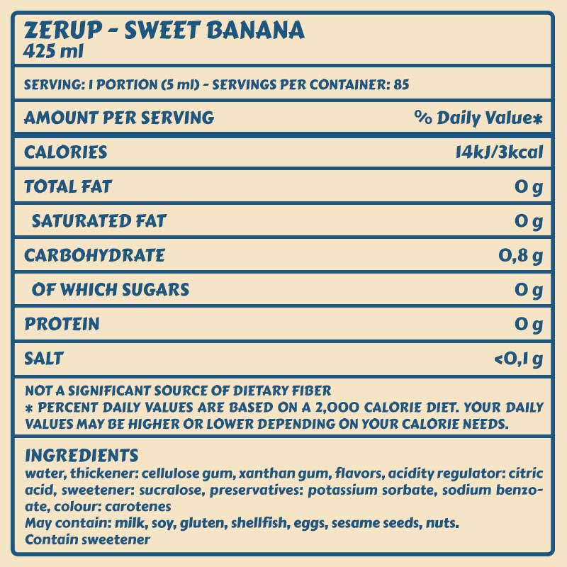 Zerup sweet banana