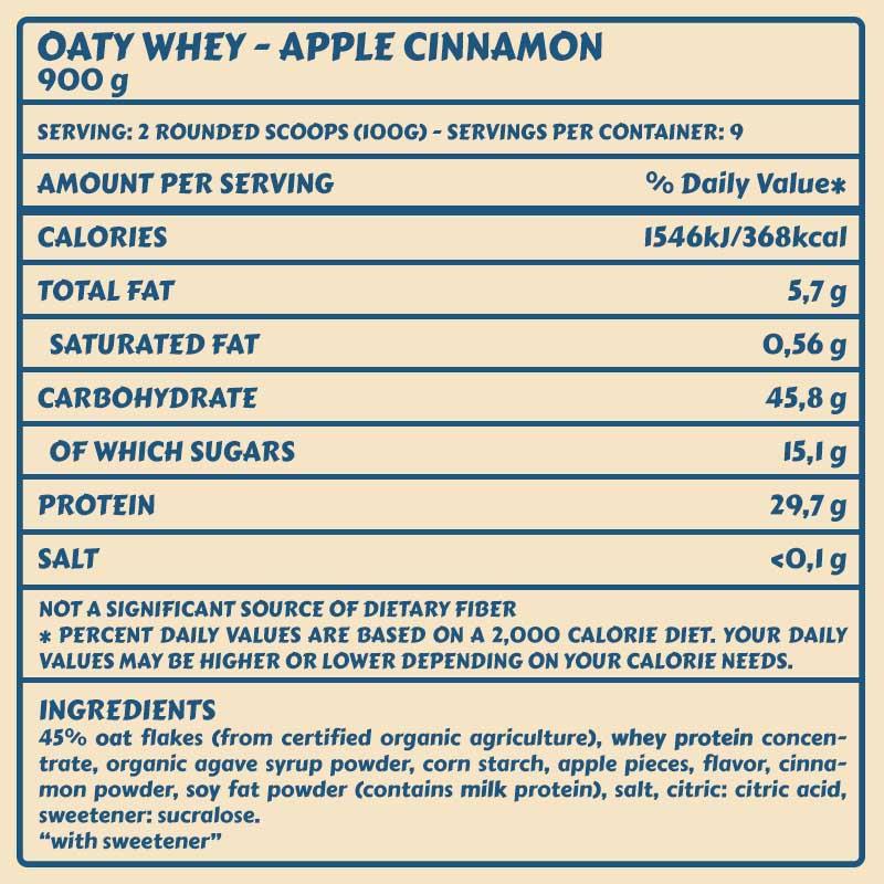 Tabelle Oaty Apple Cinnamon
