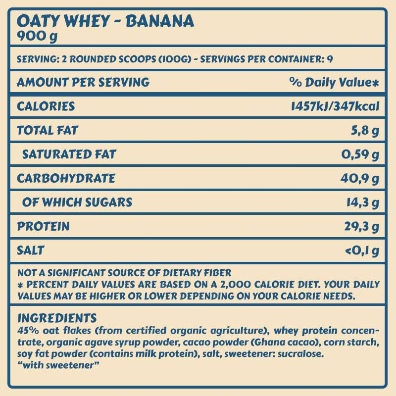 Tabelle Oaty Banana