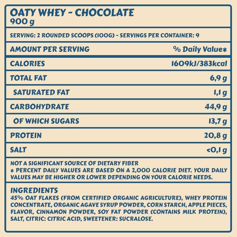 Tabelle Oaty Choco