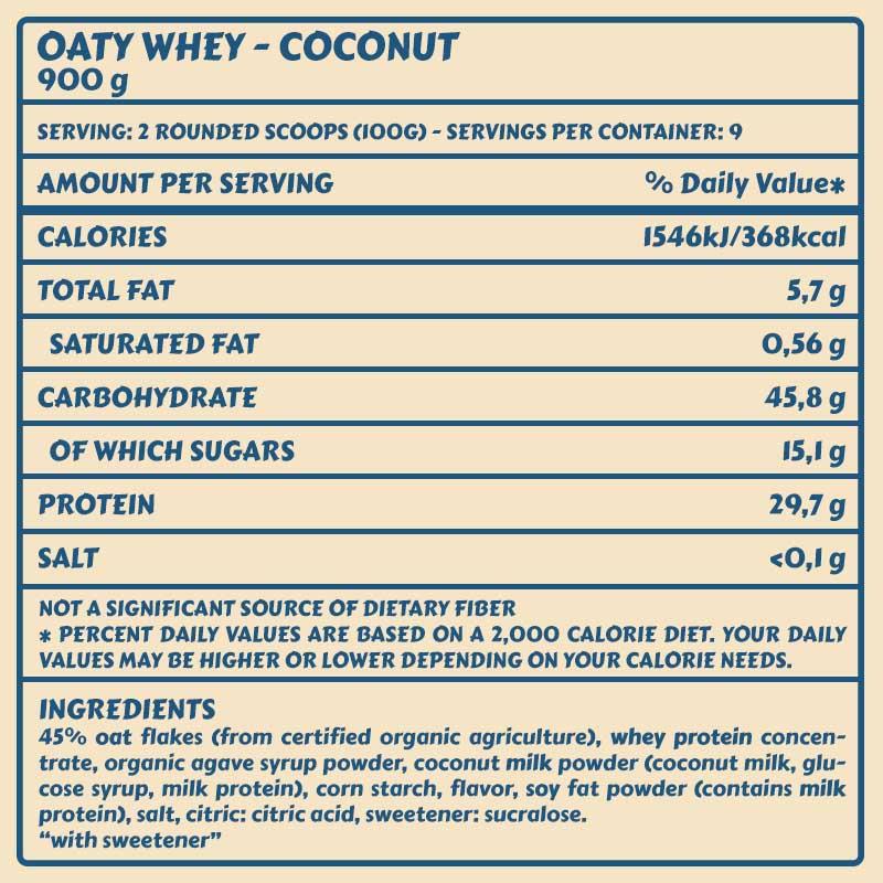 Tabelle Oaty Coconut