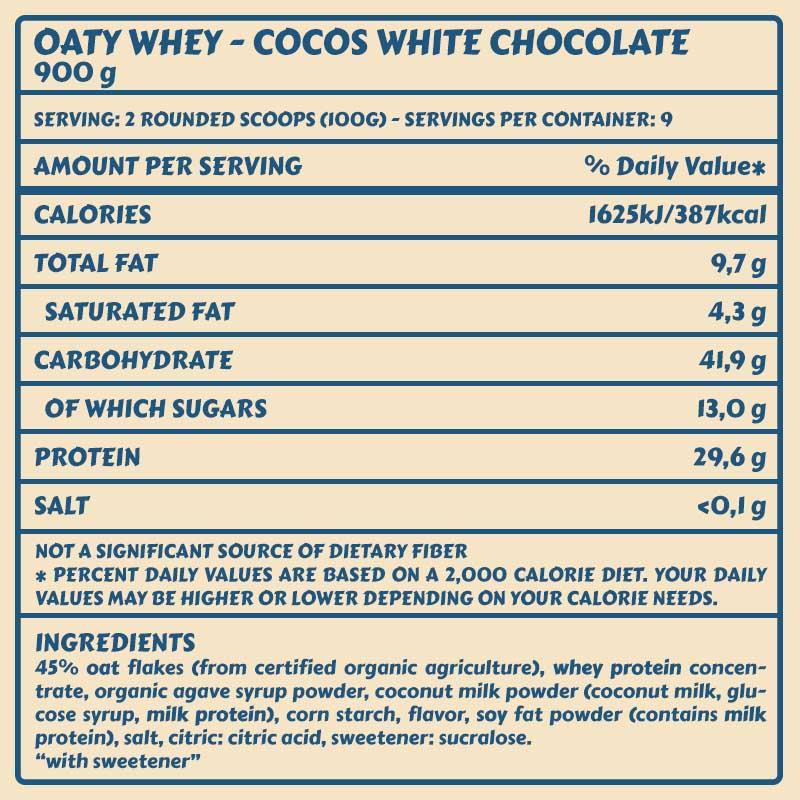 Tabelle Oaty Cocos white chocolatea