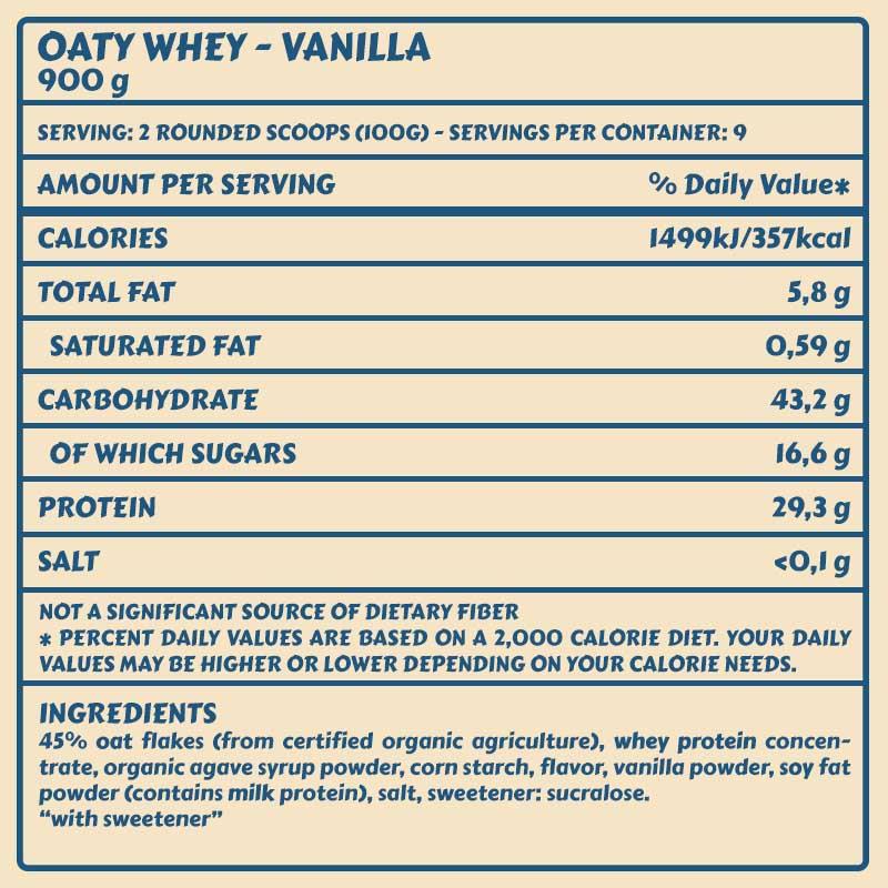 Tabelle Oaty vanilla