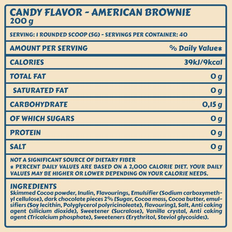 Tabelle Candy Flavor_AmericanBrownie