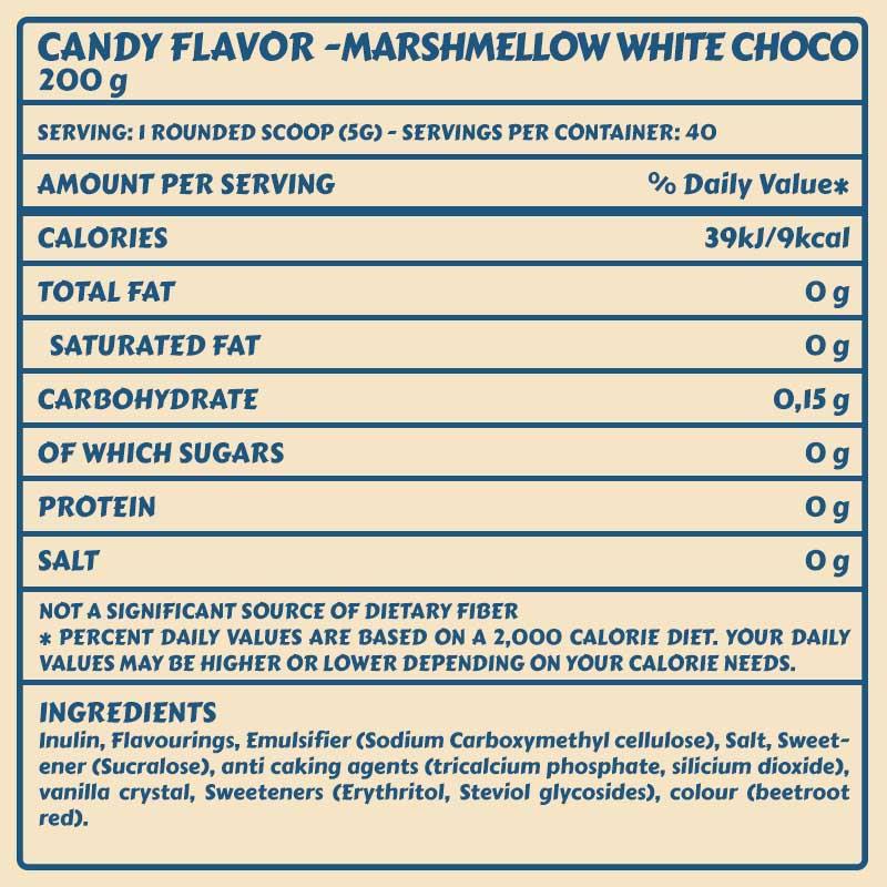 Tabelle Candy Flavor_MarshmellowWhiteChocolate