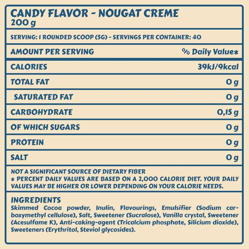 Tabelle Candy Flavor_NougatCreme