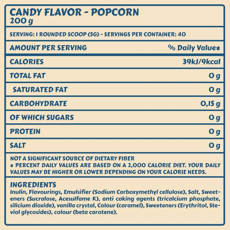 Tabelle Candy Flavor_Popcorn